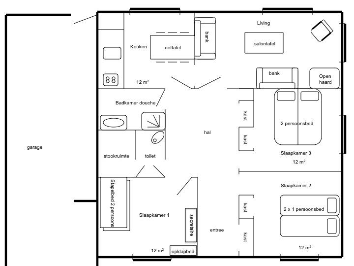 Plattegrond van het huis - Maison Quartier