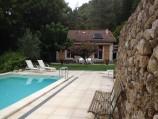 Het zwembad in de zomer