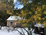 Maison Quartier in de winter met (uitzonderlijke) sneeuw.
